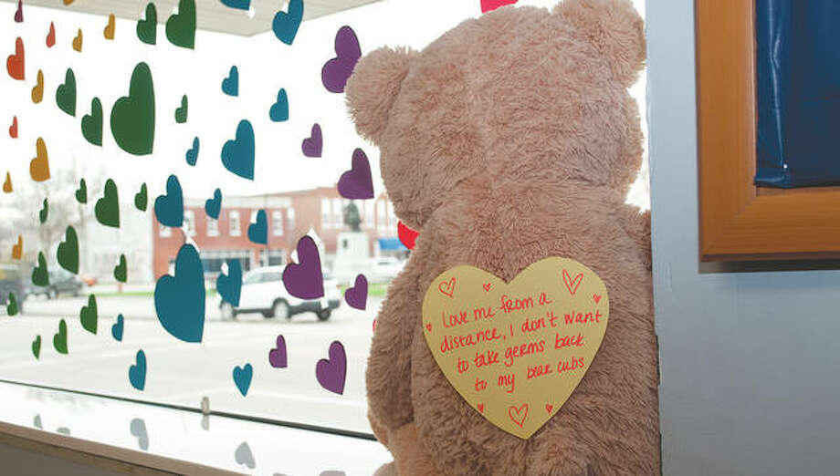 The Greene County Health Department shared its support for the community and tried to spread joy through a window display. Photo: Darren Iozia | Journal-Courier