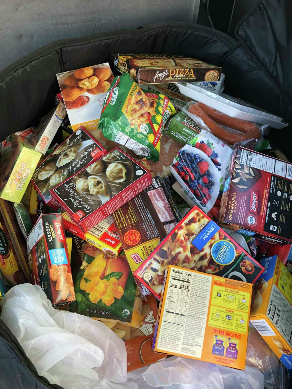 Food collected by Quinnipiac facilities workersfrom its buildings and residence halls that was donated to food banks and pantries