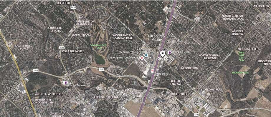San Antonio police are investigating a possible drug overdose after a body was found in a parking lot of a North Side Circle K. The map shows the approximate location of the incident. Photo: Google Maps