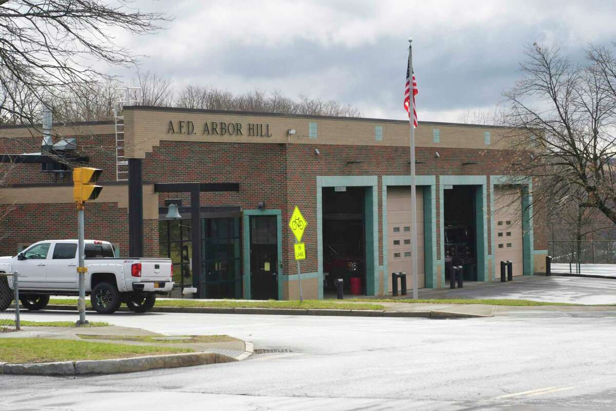 A view of the Arbor Hill Firehouse on North Manning Boulevard on Tuesday, March 31, 2020, in Albany, N.Y. The firehouse was shut down Monday so it could be cleaned after a firefighter tested positive for COVID-19. (Paul Buckowski/Times Union)