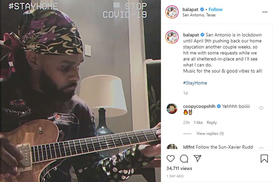 With a lot more time on his hands, Spurs player Patty Mills is open to giving private concerts via social media. Photo: Courtesy