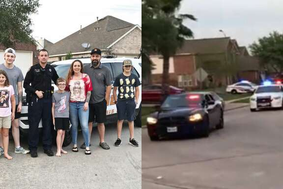 To the delight of 12-year-old Evan of Tomball, neighbors and first responders from across the region showed up in full force to celebrate his birthday.