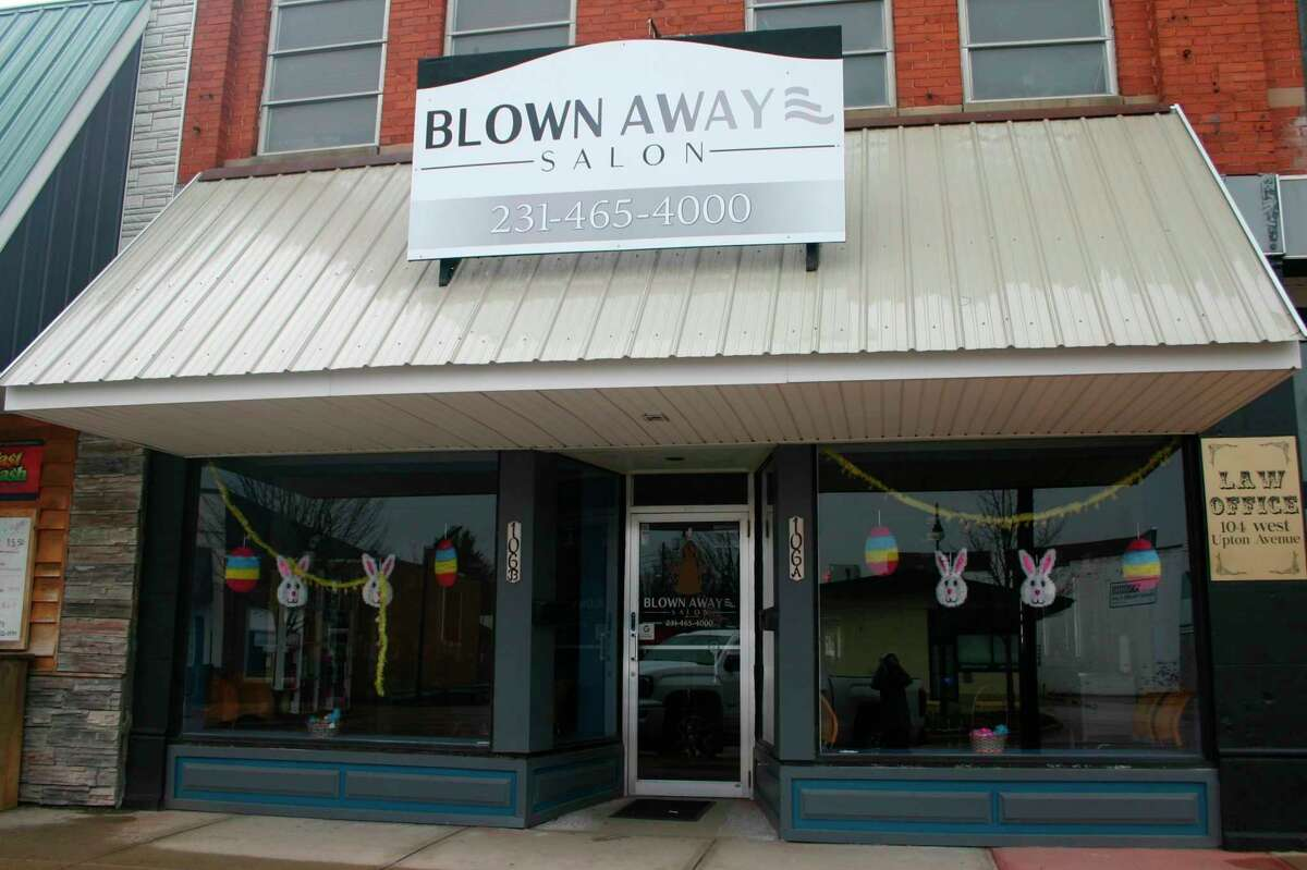 """Blown Away Salon owner Heather Hammer has had to close up temporarily due to Gov. Gretchen Whitmer's order to limit places of """"public accommodation"""" in order to help mitigate the spread of the coronavirus. Small business owners in the area are dealing with the difficulty of meeting monthly expenses while being closed to the public. (Pioneer photo/Cathie Crew)"""