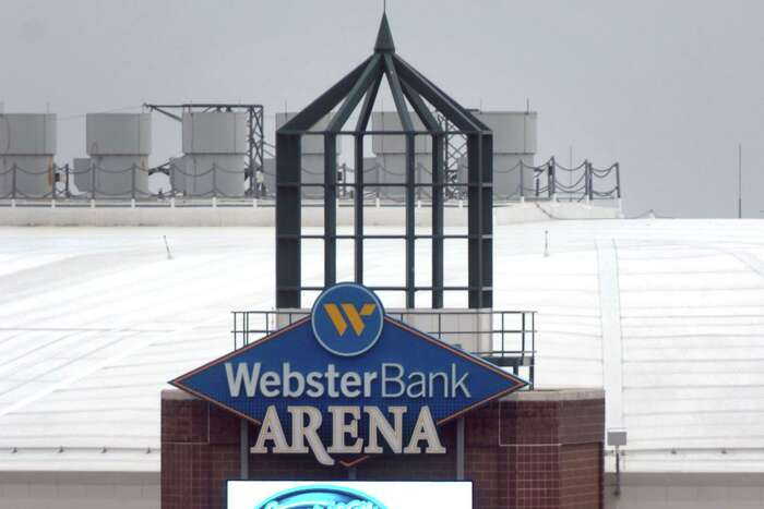 The state decided not to use Bridgeport's Webster Bank arena for hospital overflow stemming from the coronovirus outbreak at this time.