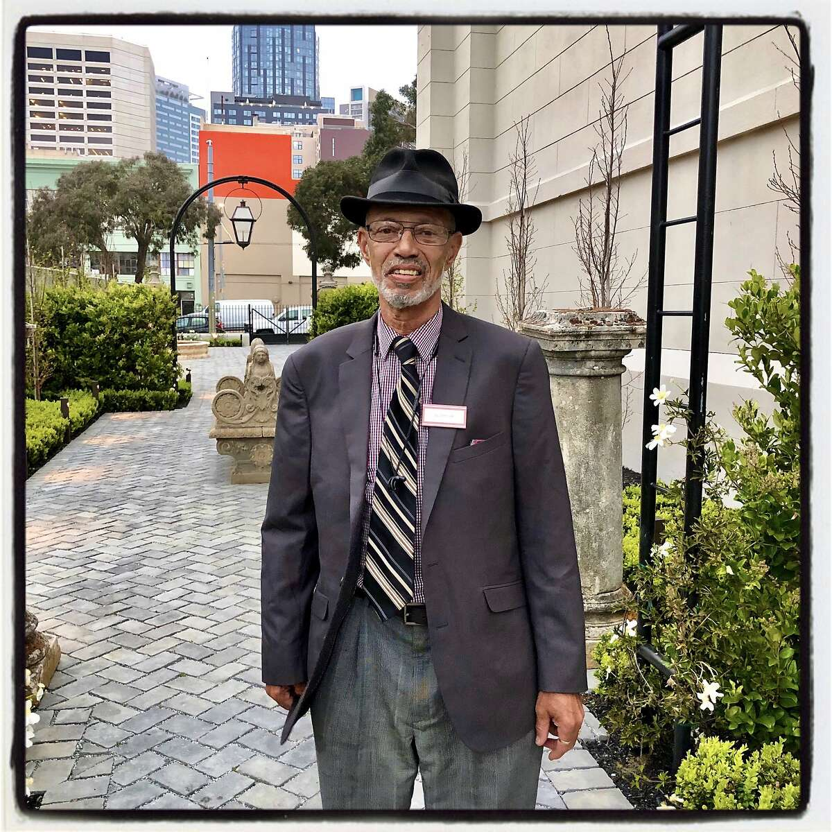 Code Tenderloin founder Del Seymour at a St. Anthony's Foundation fundraiser. April 2019