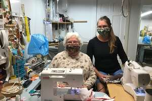 Goshen residents Tina Torizzo and her mother, Diane Withsandley, have made more than 500 face masks and donated them to nursing homes, care centers, group homes and other organizations. The masks are intended to slow the spread of the cornavirus and keep people from touching their faces.