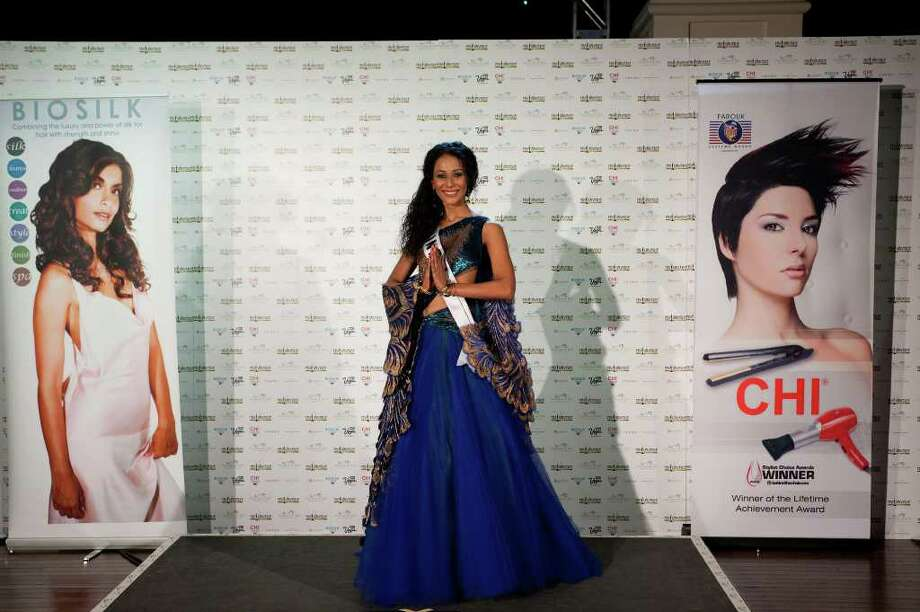 Ushoshi Sengupta, Miss India 2010, poses in her national costume at the Mandalay Bay Resort and Casino in Las Vegas Monday, August 16, 2010. (AP Photo/Matt Petit/Miss Universe Organization LP, LLLP) Photo: Matt Petit / Miss Universe Organization