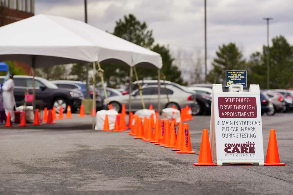 A view of the first non-hospital testing site for COVID-19 at Community Care Physicians on Tuesday, March 31, 2020, in Latham, N.Y. (Paul Buckowski/Times Union)