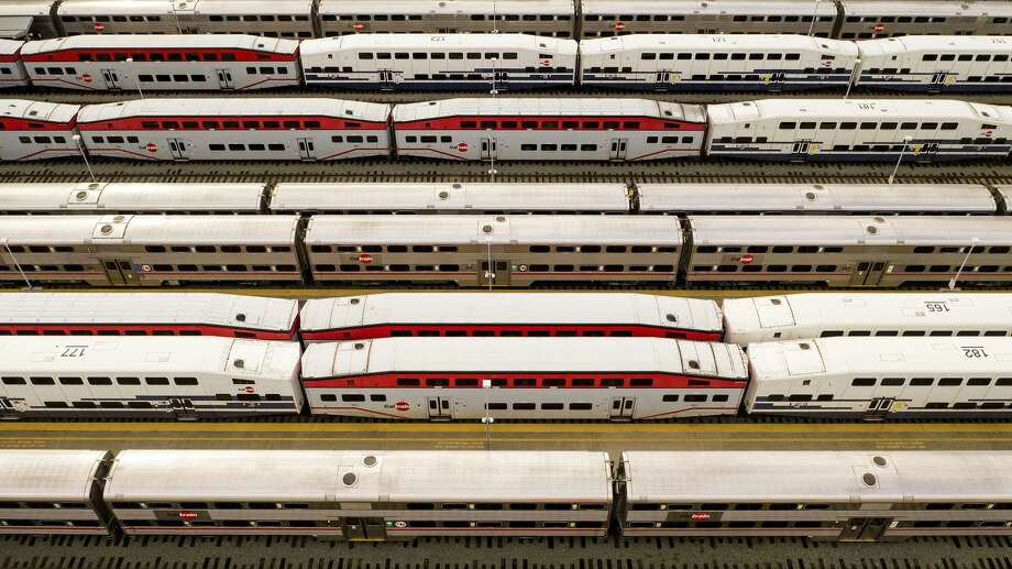 A sales tax measure to fund Caltrain will appear on the November ballot. Photo: Noah Berger/Associated Press / Copyright 2020 The Associated Press. All rights reserved.