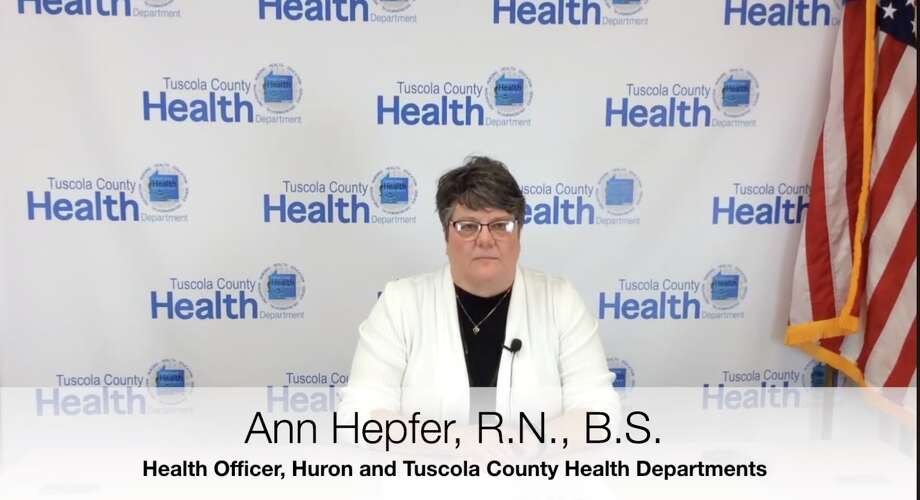 Ann Hepfer, health officer for the Huron and Tuscola County Health Departments, recently appeared in a video that gives information on testing for COVID-19 and what you can do if you get sick. Photo: Screenshot/Huron County Health Department Video