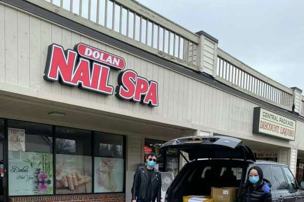 Dolan Nail Spa donated at least 1,800 pieces of medical equipment to Danbury Hospital and Bethel police and fire. Monday, March 30, 2020.