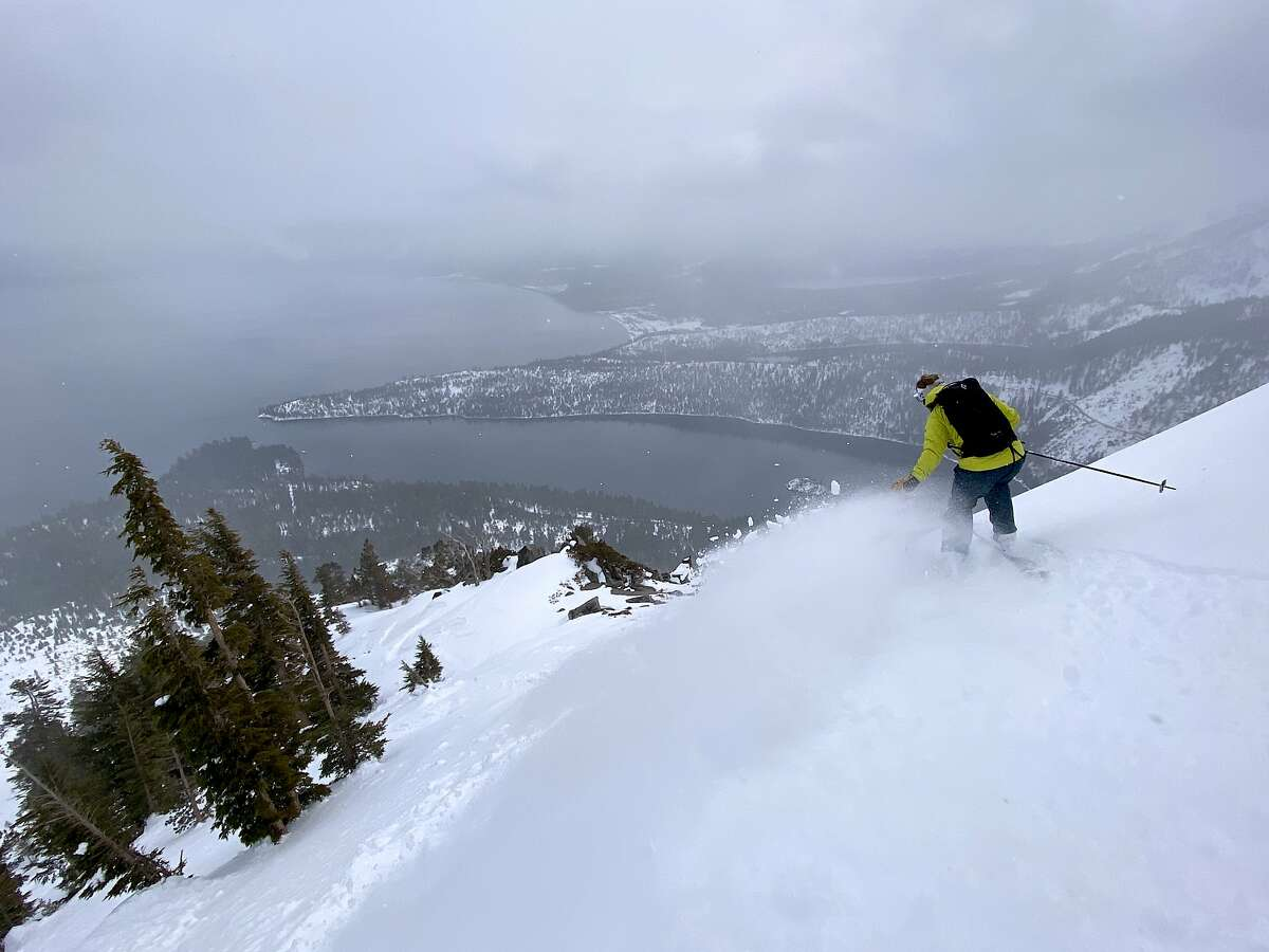 Doug Stoup trekked through snow to a wilderness ridge above Emerald Bay at Lake Tahoe, and then sailed back down -- scratching the outdoor itch without putting himself, or others, at risk amid fears of coronavirus