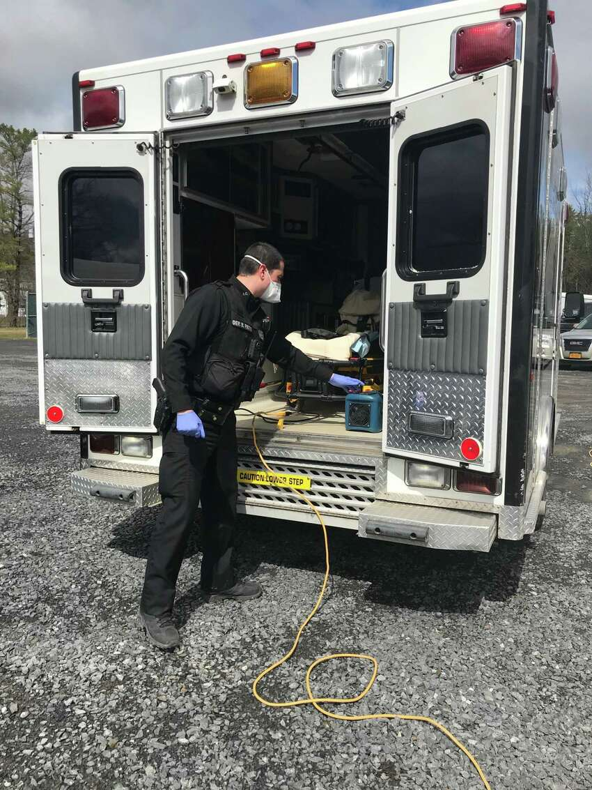 The Albany County Sheriff's Department is using special equipment to disinfect ambulances and police cars. (Albany County Sheriff)