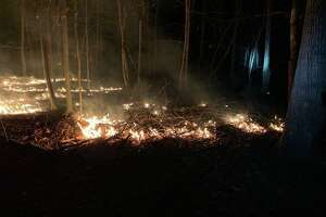 At 9:30 p.m. Friday, March 27, firefighters were dispatched to a reported brush fire in the wooded area between Tubbs Springs Road and Lords Highway/Stone Cliff Lane.