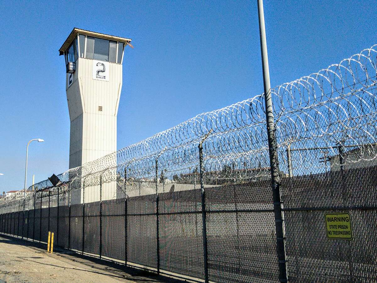 An outer perimeter fence is seen at California State Prison in Norco, Calif. Prison administrators in the state are preparing for the threat of coronavirus. (Bryan M. Carrel/Dreamstime/TNS)