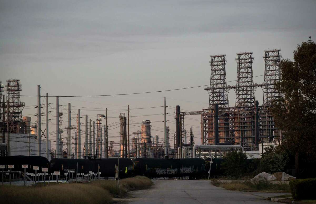 The Port Arthur Refinery, operated by Motiva Enterprises, abuts neighborhoods where residents complain of chemical odors and falling home values. Photographed Tuesday, Nov. 20, 2018, in Port Arthur.