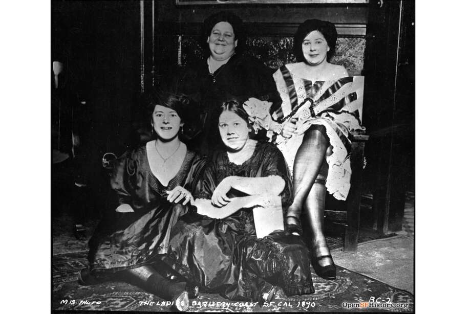 "A few of San Francisco's infamous ""Ladies of the Barbary Coast,"" sex workers who lived and worked in the city's many brothels. This photo was taken in the 1890s. Photo: OpenSFHistory"