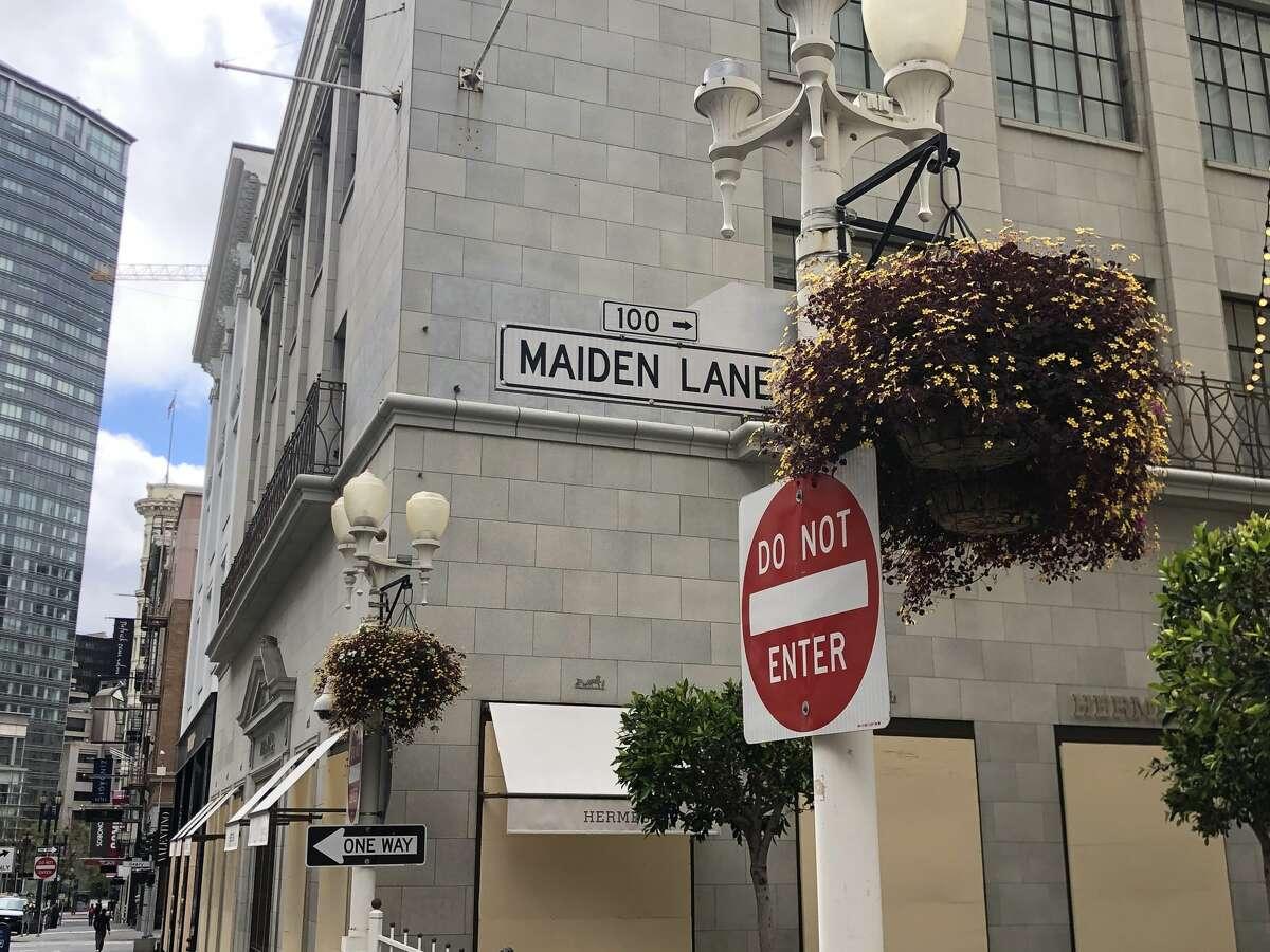 Maiden Lane in San Francisco.