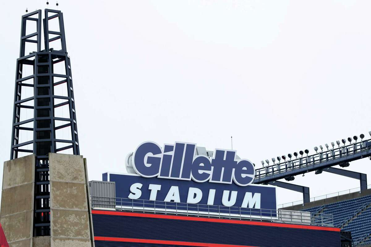 FOXBOROUGH, MASSACHUSETTS - MARCH 17: A view of Gillette Stadium, the home of the New England Patriots, on March 17, 2020 in Foxborough, Massachusetts. In a press release, the New England Patriots announced a 20 percent capacity for the stadium during games.