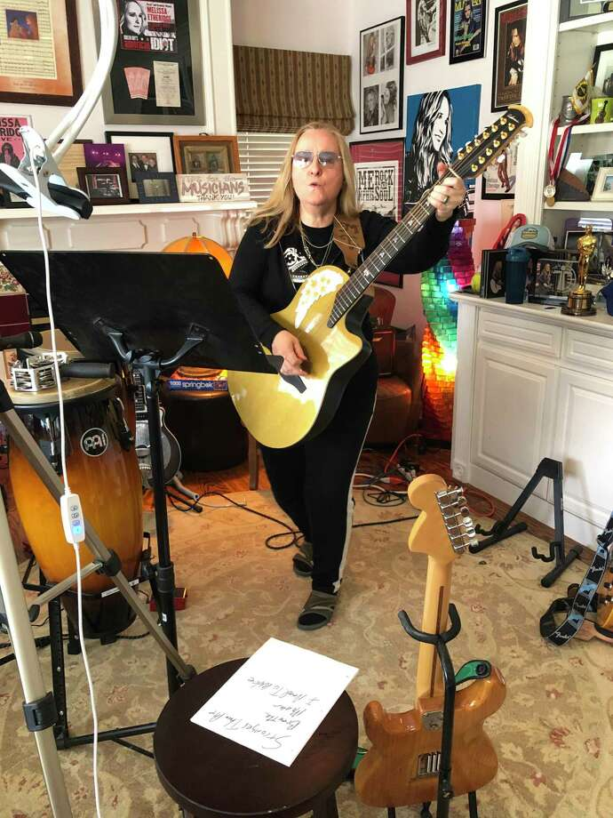 Melissa Etheridge is seen at home in Los Angeles after her Facebook Live concert on March 31. Photo: Melissa Etheridge / Contributed Photo