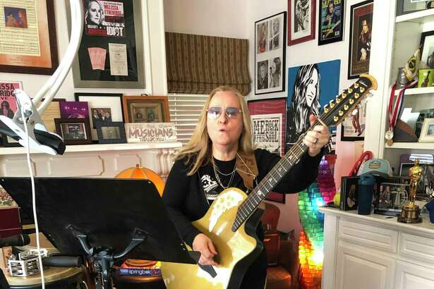 Melissa Etheridge is seen at home in Los Angeles after her Facebook Live concert on March 31.