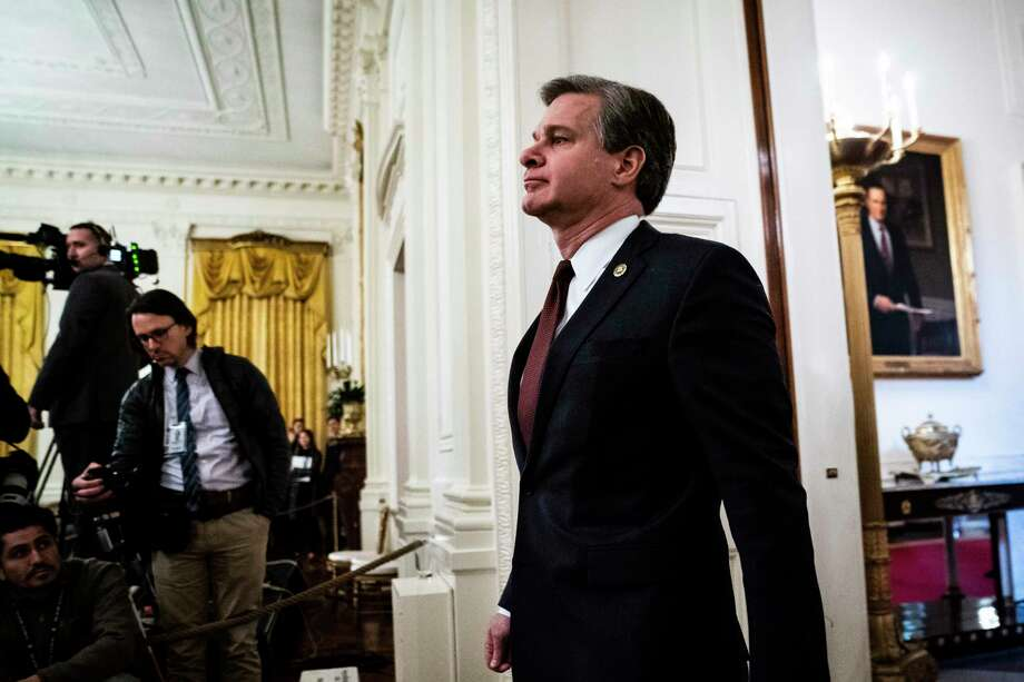FBI Director Christopher Wray arrives at the White House in January ahead of remarks by President Donald Trump. Photo: Washington Post Photo By Jabin Botsford / The Washington Post
