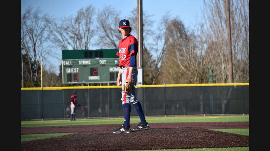 Charlie Olson is a baseball player at Kennedy Catholic High School in Burien. Like many seniors, Olson is left in limbo amid the shutdown of sports in light of the COVID-19 pandemic. Photo: Laura MacLaren/Courtesy Photo