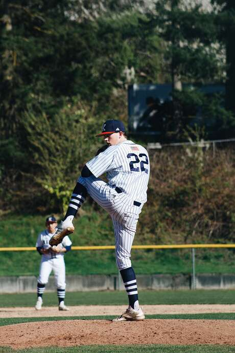 """Olson, a 6'2"""" pitcher, has one offer from Linfield College, a Division III college in Oregon. Photo: Delaney Brummond/Courtesy Photo"""
