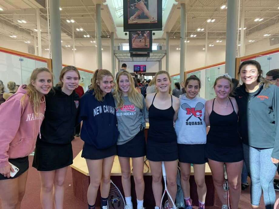 The New Canaan girls squash team recently took part in the US High School Team championships. Photo: Contributed Photo