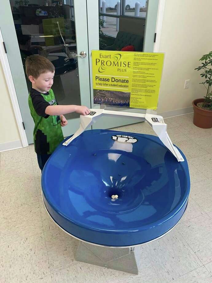 This spiral wishing well, purchased by the Evart Area Chamber of Commerce, will be placed inside Foster's Supermarket. (Submitted photo)