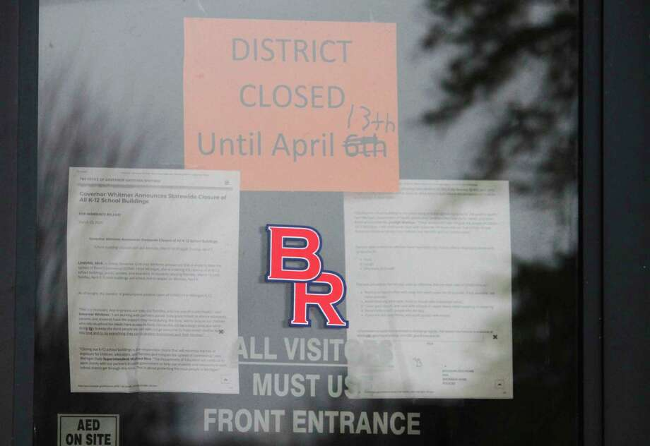 While Michigan schools currently are closed until April 13, local school officials are planning for the potential of a longer closure. So far, it has already been extended one week. (Pioneer photo/Catherine Sweeney)