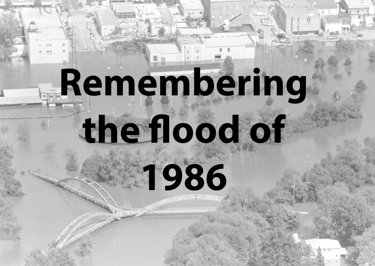 Scroll through to see photographs of the flood of 1986 in Midland.
