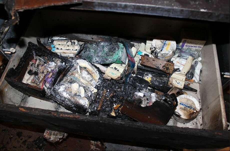 A suspected arsonist was arrested for allegedly setting a fire at a Bellevue dentist office and burning boxes with protective masks and gear inside. Photo: Bellevue Police Department