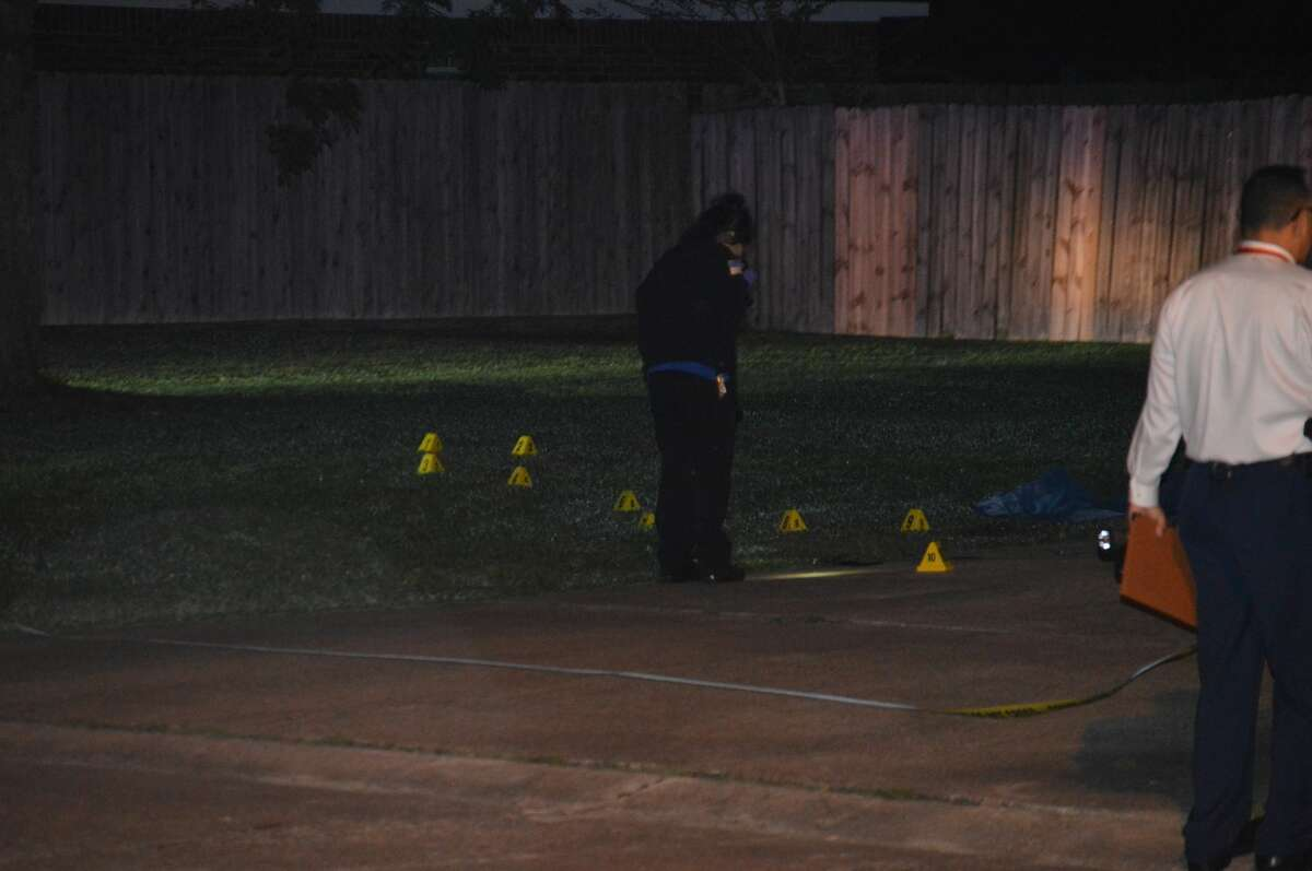 Beaumont police investigate a homicide in the 9300 block of Riggs Street Tuesday, March 31, 2020. Photo provided by Eric Williams