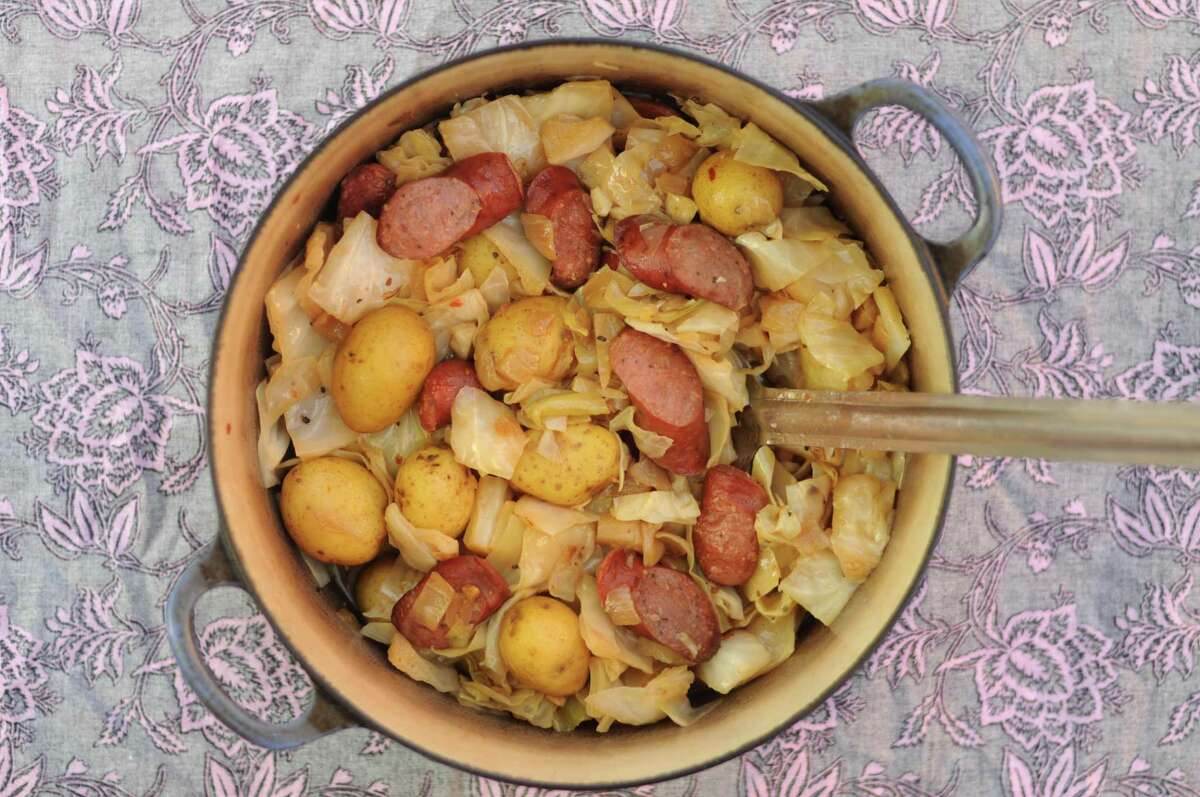 Ande McBay's Rumbledethumps (Simmered Cabbage, Potatoes and Sausage)