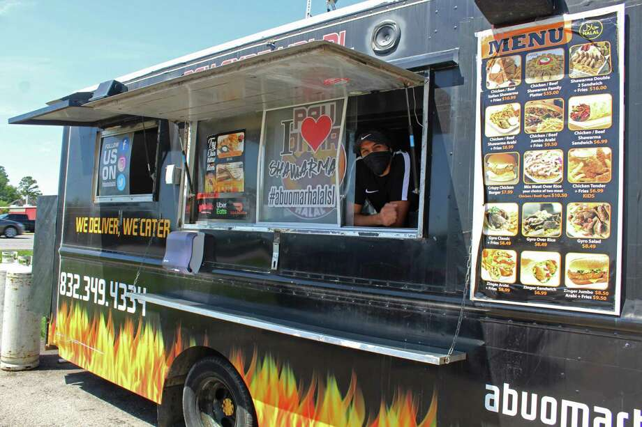 Fort Bend County food truck operator Adham Mohammed says sales had decreased since the start of the COVID-19 health crisis closed schools, businesses and caused customers to stay home. Photo: Kristi Nix