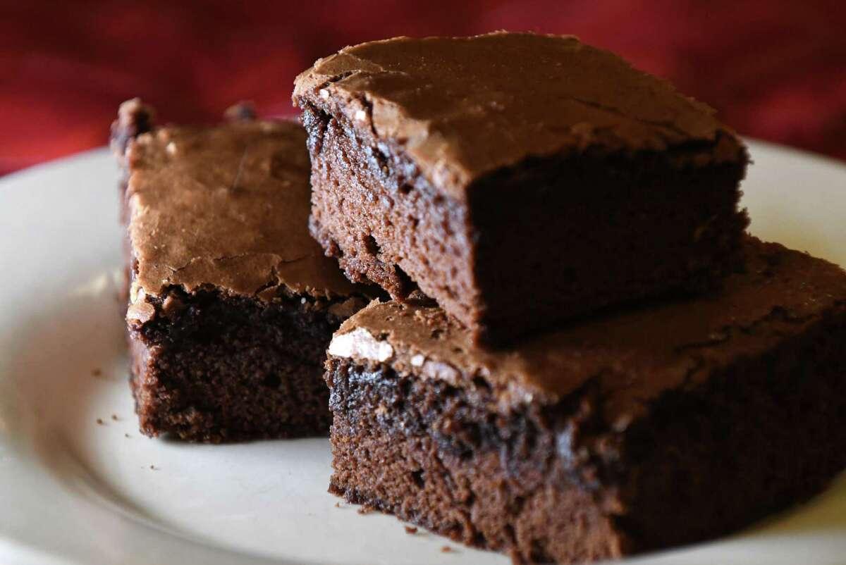 Mexican cocoa brownies from Caroline Barrett on Wednesday, Feb. 20, 2019, in Delmar, N.Y. (Will Waldron/Times Union)