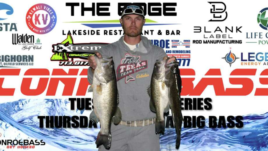 Bruce Baggett (pictured) and Zane Baggett won the CONROEBASS Tuesday night tournament with a stringer weight of 14.27 pounds. Photo: Conroe Bass