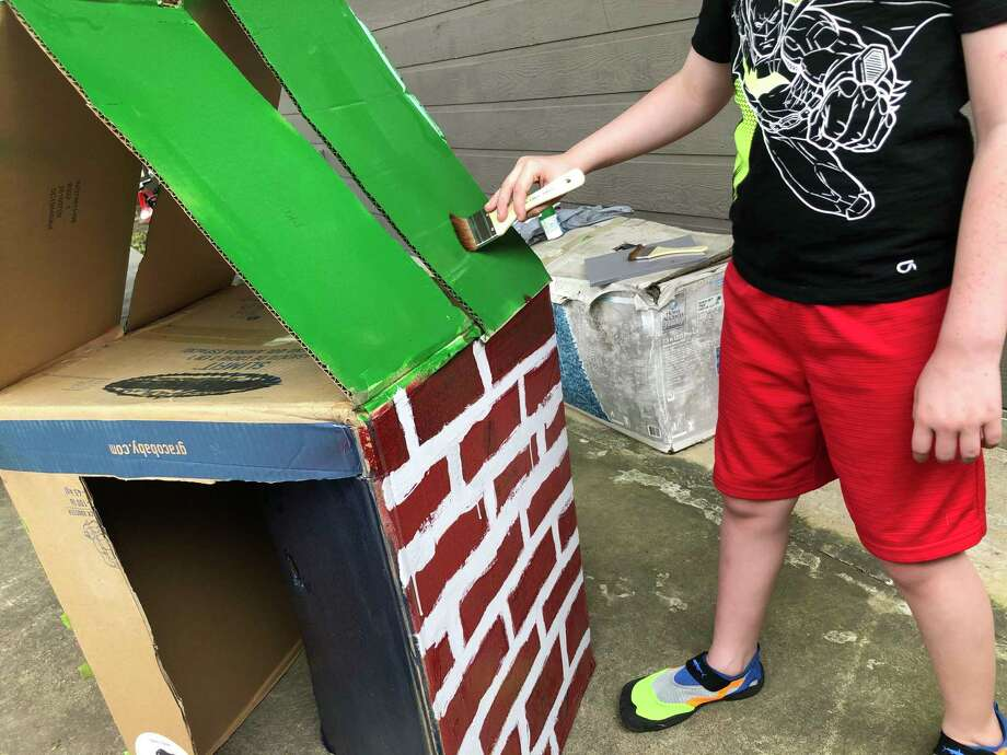 Cardboard can be a lifesaver if you've got kids at home all day. Photo: Joey Guerra / Joey Guerra