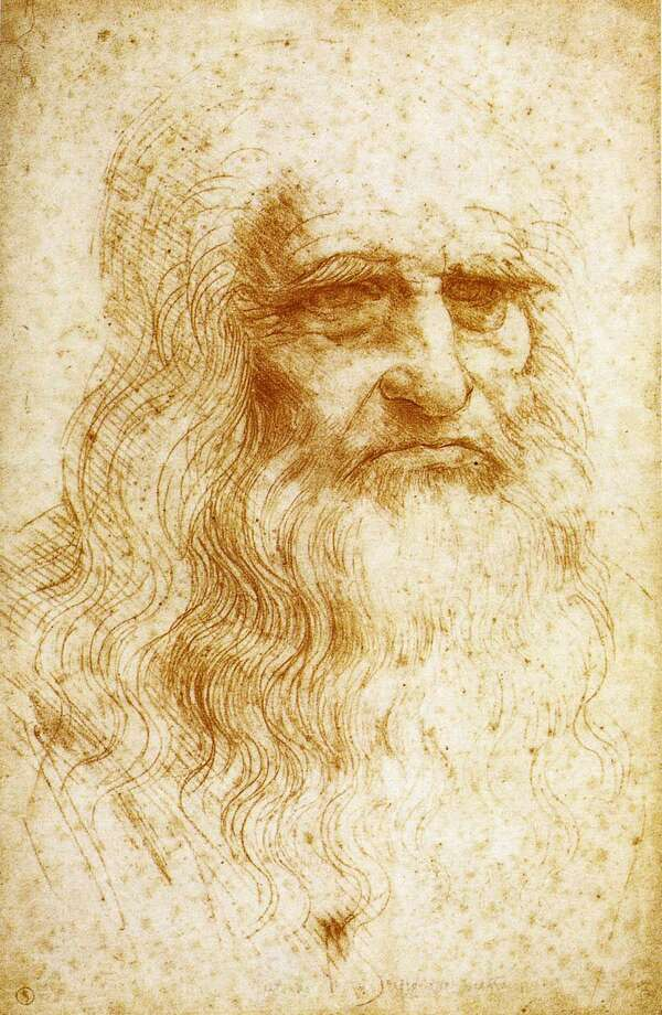 Da Vinci - Self Portrait Ran on: 08-09-2007 Leonardo da Vinci's ingenuity ranged from art to science. Top is a sketch of his Vertical Ornithopter; above is his Aerial Screw. Photo: - / Enterprise File Photo