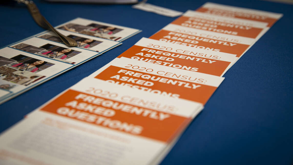 Employment brochures are displayed at the U.S. Census Bureau booth during a job fair for Hispanic professionals in Miami, Florida, U.S., on Wednesday, March 11, 2020. The Department of Labor is scheduled to release initial jobless claims figures on March 19. Photographer: Marco Bello/Bloomberg