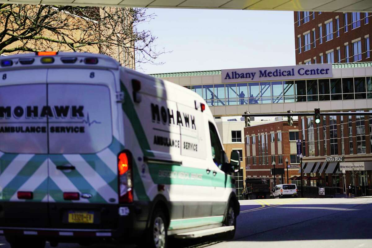 A view of Albany Medical Center on Wednesday, April 1, 2020, in Albany, N.Y. (Paul Buckowski/Times Union)