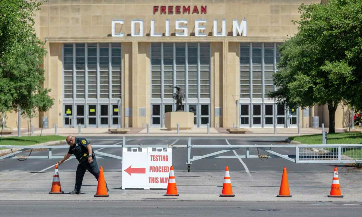 The director of Freeman Coliseum, show in a photo taken in March 2020, said the facility has made numerous improvements during the pandemic, including installation of touchless restroom fixtures and antiviral ventilation equipment, to prevent the spread of COVID-19 at its events, including rodeo and concert performances during the San Antonio Stock Show & Rodeo.