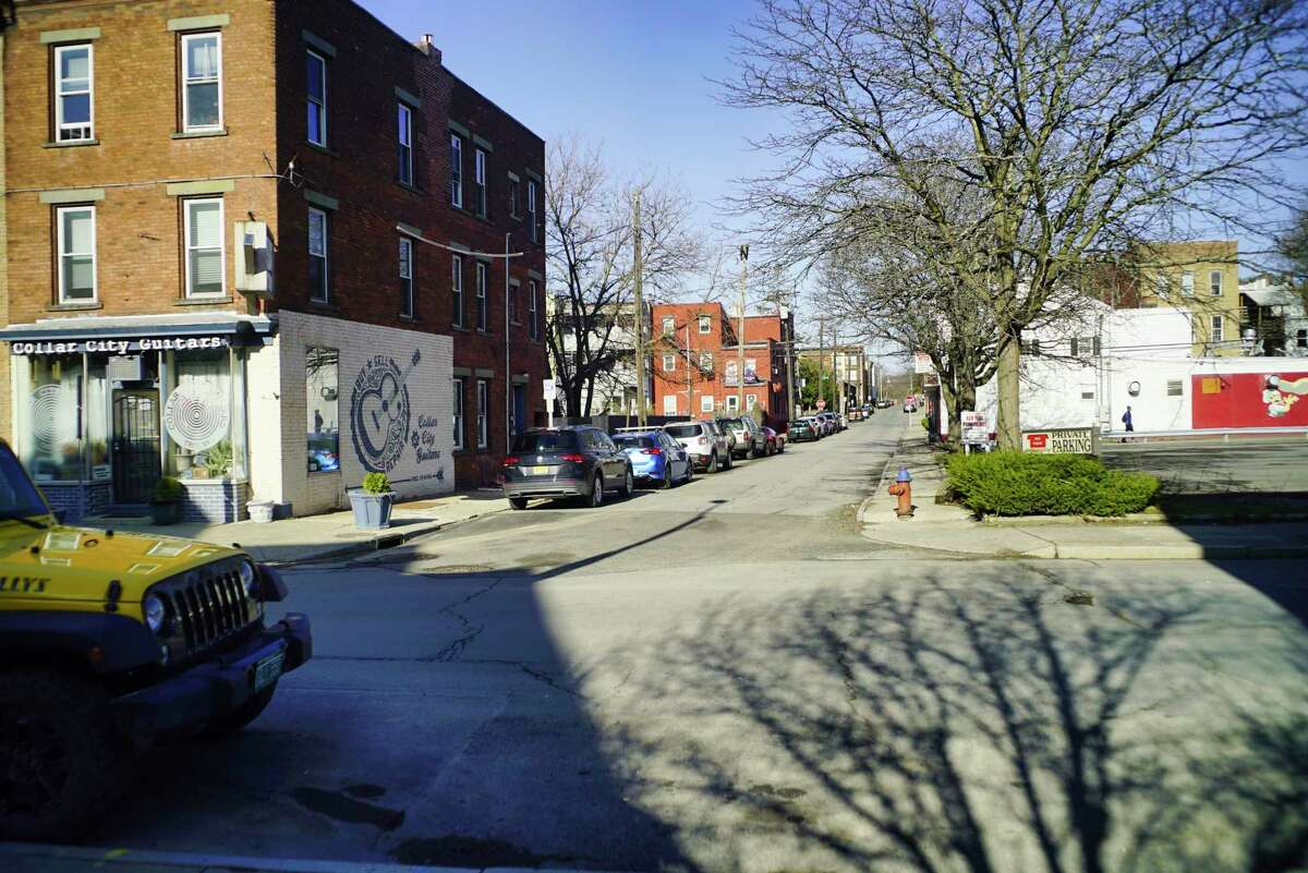 A view looking west on Division Street from 4th Street in the Little Italy neighborhood section on Wednesday, April 1, 2020, in Troy, N.Y. (Paul Buckowski/Times Union)