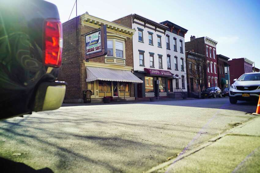 A view of DeFazio's on 4th Street in the Little Italy neighborhood section on Wednesday, April 1, 2020, in Troy, N.Y. (Paul Buckowski/Times Union)