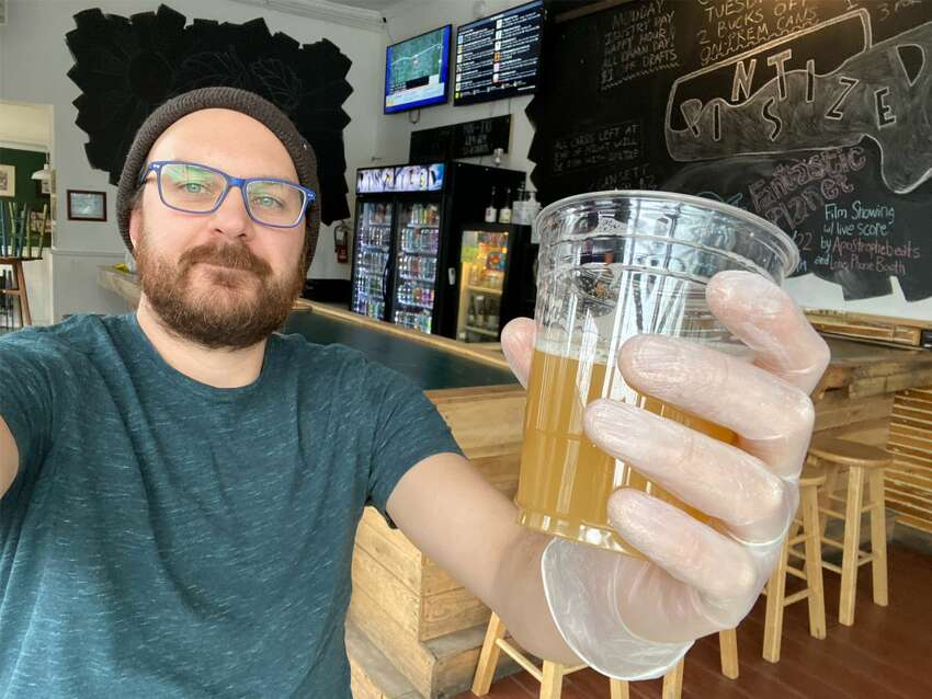 August Rosa, of Pint Sized, a small bar and bottle shop