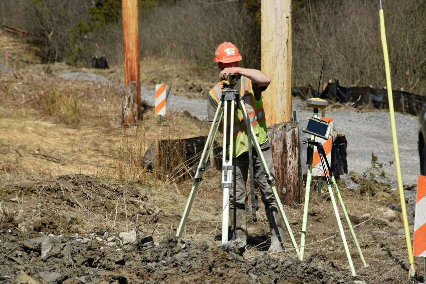 Construction continues on the Empire State Trail off Rt. 20 on Wednesday, April 1, 2020 in Stottville, N.Y. (Lori Van Buren/Times Union)
