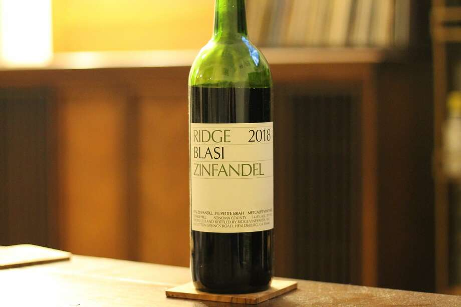 Ridge's Blasi Zinfandel, from the Chalk Hill AVA of Sonoma County, is great with pizza. Photo: Esther Mobley / The Chronicle
