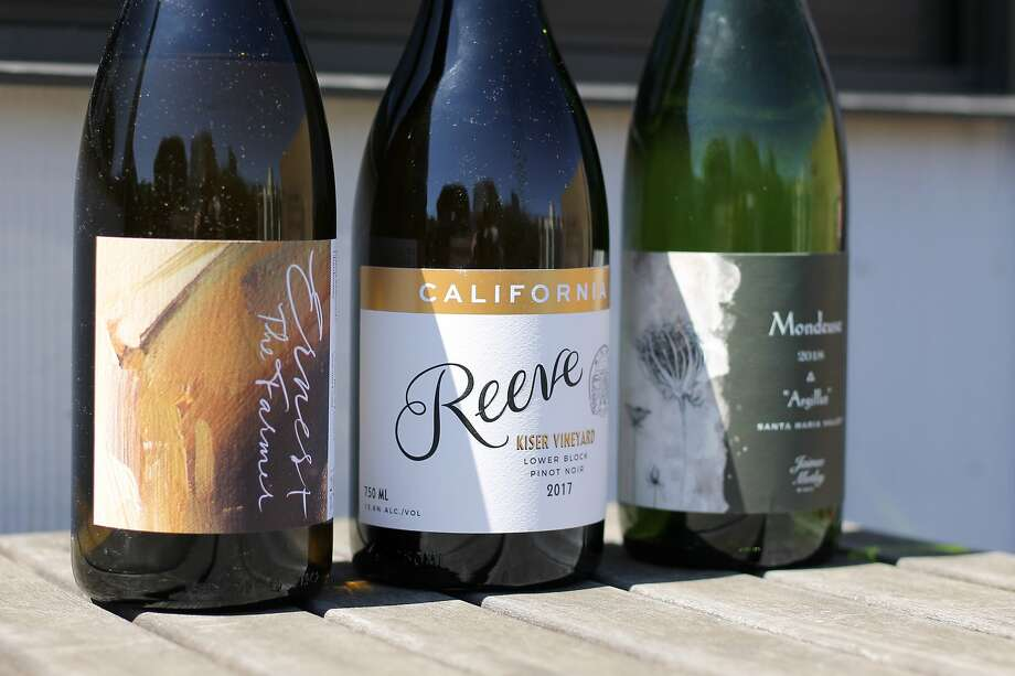 Some of the wines I've been enjoying while sheltering in place. You'll notice that the bottles are not full. Photo: Esther Mobley / The Chronicle