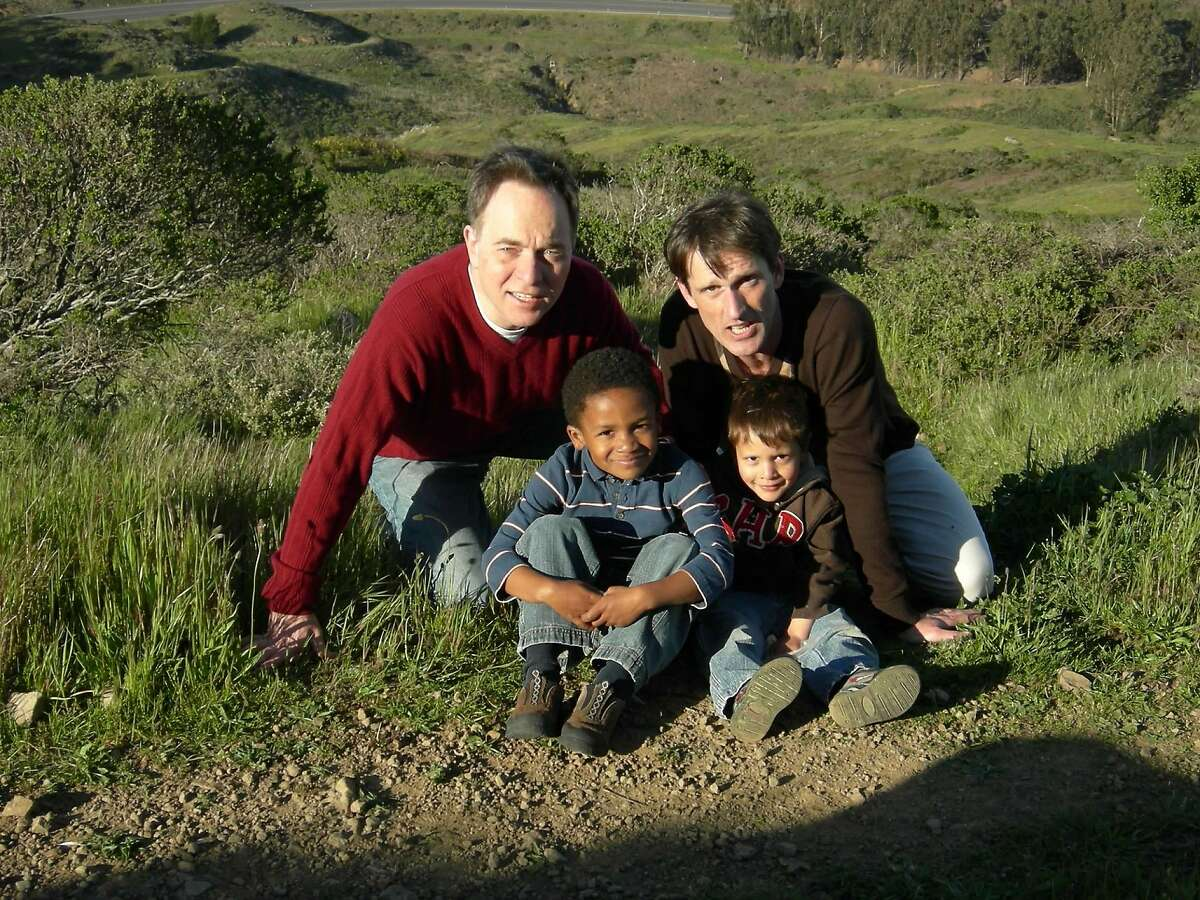The Fisher-Paulsons, a few years ago, somewhere along the Philosopher's Way, McLaren Park, San Francisco.